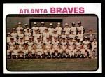 1973 Topps #521   Braves Team Front Thumbnail