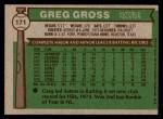 1976 Topps #171  Greg Gross  Back Thumbnail