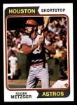 1974 Topps #224  Roger Metzger  Front Thumbnail