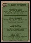 1974 Topps #604   -  Frank White / Andre Thornton / Terry Hughes / John Knox Rookie Infielders   Back Thumbnail