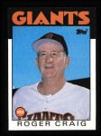 1986 Topps #111   -  Roger Craig Giants Team Checklist Front Thumbnail