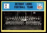 1967 Philadelphia #61   Detroit Lions Team Front Thumbnail