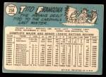 1965 Topps #256  Tito Francona  Back Thumbnail