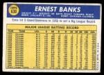 1970 Topps #630  Ernie Banks  Back Thumbnail