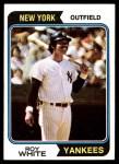 1974 Topps #135  Roy White  Front Thumbnail