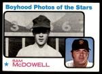 1973 Topps #342   -  Sam McDowell  Boyhood Photo Front Thumbnail