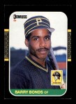 1987 Donruss #361  Barry Bonds  Front Thumbnail