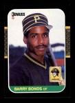 1987 Donruss #361  Barry Bonds  Front Thumbnail