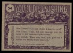 1973 Topps You'll Die Laughing #54   What do you mean I'm not Back Thumbnail
