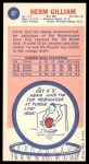 1969 Topps #87  Herm Gilliam  Back Thumbnail
