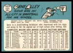 1965 Topps #121  Gene Alley  Back Thumbnail