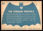 1966 Topps Batman Blue Bat Back #2   The Penguin Prevails Back Thumbnail