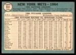 1965 Topps #551   Mets Team Back Thumbnail