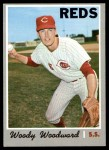 1970 Topps #296  Woody Woodward  Front Thumbnail