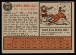 1962 Topps #348  Larry Burright  Back Thumbnail