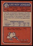 1973 Topps #159  Lee Roy Jordon  Back Thumbnail