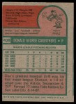 1975 Topps #438  Don Carrithers  Back Thumbnail