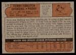 1972 Topps #539  Terry Forster  Back Thumbnail