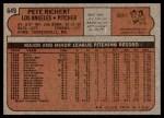 1972 Topps #649  Pete Richert  Back Thumbnail