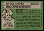 1978 Topps #362  Bruce Harper  Back Thumbnail