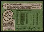 1978 Topps #321  Bob Howard  Back Thumbnail