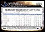 2016 Topps Update #212  Ian Kennedy  Back Thumbnail