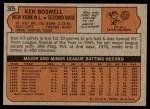 1972 Topps #305  Ken Boswell  Back Thumbnail