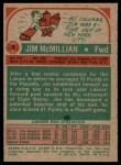 1973 Topps #4  Jim McMillian  Back Thumbnail