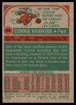 1973 Topps #43  Connie Hawkins  Back Thumbnail