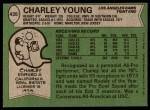 1978 Topps #435  Charley Young  Back Thumbnail