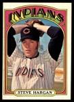 1972 Topps #615  Steve Hargan  Front Thumbnail