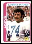 1978 Topps #356  Larry Hand  Front Thumbnail