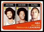 1972 Topps #263   -  Mel Daniels / Julius Erving / Artis Gilmore  ABA Rebound Leaders Front Thumbnail