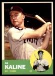 1963 Topps #25  Al Kaline  Front Thumbnail