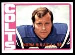 1972 Topps #232  Norm Bulaich  Front Thumbnail