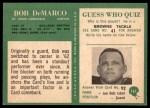 1966 Philadelphia #161  Bob DeMarco  Back Thumbnail