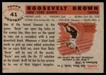 1956 Topps #41  Roosevelt Brown  Back Thumbnail