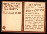 1967 Philadelphia #35  Gale Sayers  Back Thumbnail