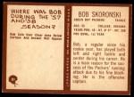 1967 Philadelphia #81  Bob Skoronski  Back Thumbnail