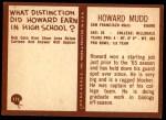 1967 Philadelphia #175  Howard Mudd  Back Thumbnail