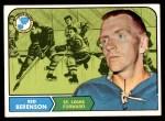 1968 Topps #114  Red Berenson  Front Thumbnail