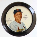 1962 Salada Coins #139  Curt Flood  Front Thumbnail