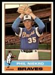 1976 Topps #435  Phil Niekro  Front Thumbnail