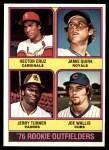 1976 Topps #598   -  Hector Cruz / Jamie Quirk / Jerry Turner / Joe Wallis Rookie Outfielders   Front Thumbnail