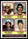 1976 Topps #592   -  Willlie Randolph / Jerry Royster / Dave McKay / Roy Staiger Rookie Infielders  Front Thumbnail