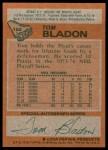 1978 Topps #152  Tom Bladon  Back Thumbnail