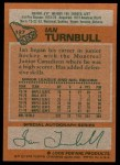 1978 Topps #127  Ian Turnbull  Back Thumbnail