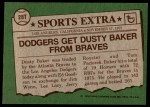 1976 Topps Traded #28 T Dusty Baker  Back Thumbnail