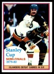 1980 Topps #262   Stanley Cup Semifinals - Islanders-Sabres Front Thumbnail