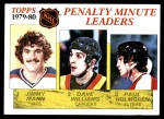 1980 Topps #164   -  Jimmy Mann / Tiger Williams / Paul Holmgren Penalty Minute Leaders Front Thumbnail